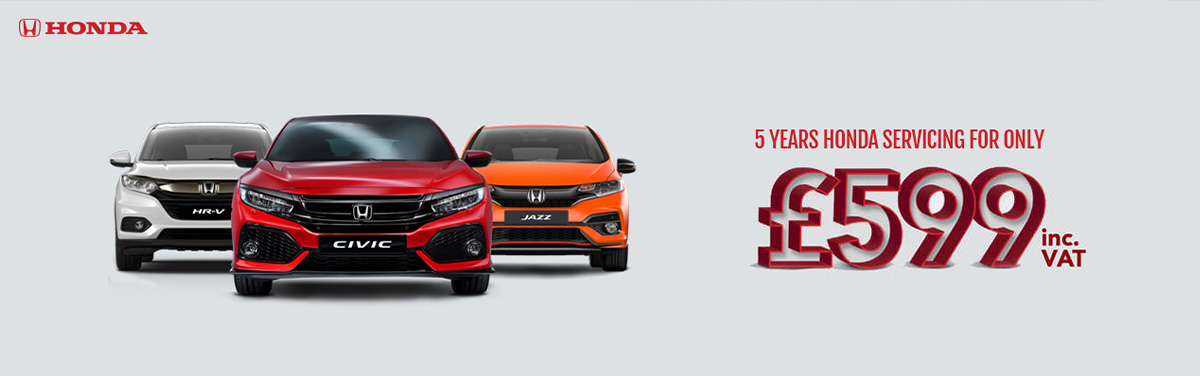 5 years servicing  £599